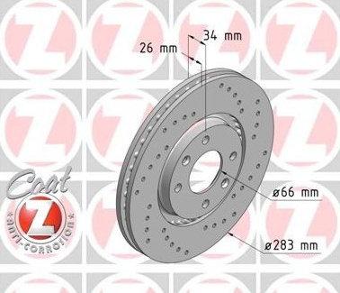 Dischi anteriori Citroen/Peugeot da 283x26mm