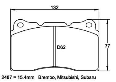 Pagid Racing 2487 - Brembo 4 pistons calipers