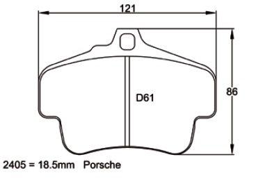 Pagid Racing 2405 - Porsche