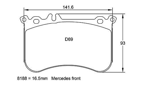 Pagid Racing E8188 - Mercedes A45 AMG CLA45 AMG