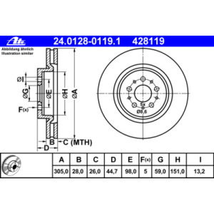 Dischi anteriori 156 GTA 305x28mm