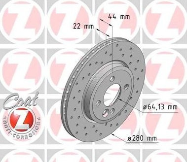 Dischi anteriori Mini One/Cooper/Cooper D 280x22mm
