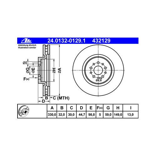 Dischi anteriori GT 3.2 330x32mm