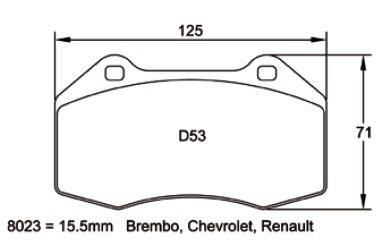 Pagid Racing 8023 - 4C/Clio III RS/Abarth