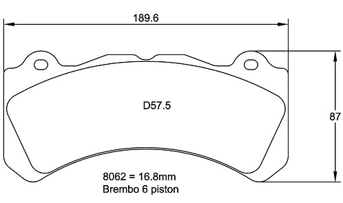 Pagid Racing 8062 RS29 - Brembo GT 6 pistons