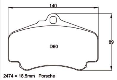 Pagid Racing 2474 - Porsche 996 Turbo/GT3