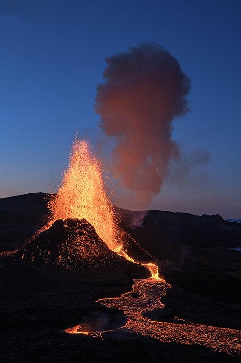 Volcano in Grindavik, Iceland