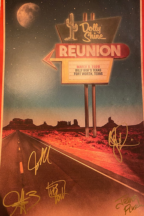 Autographed Billy Bob's 2020 Poster