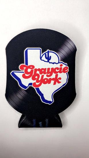 Graycie York Vinyl Record Koozie
