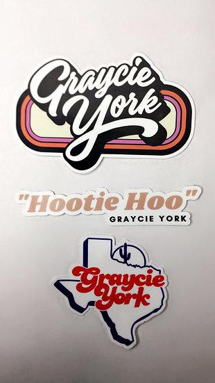 Graycie York Stickers