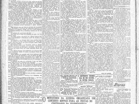Segunda-feira, 25/04/1921