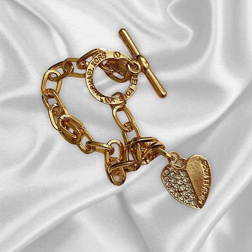 MICHAEL KORS Gold Vintage Charm Bracelet