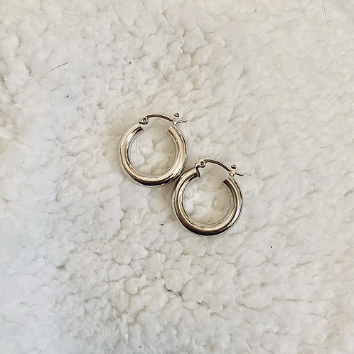 THE AISA ♡ CHUNKY S925 STERLING SILVER HOOPS