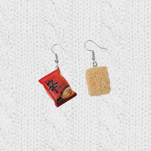 Ramen Noodles Nongshim Hook Earrings