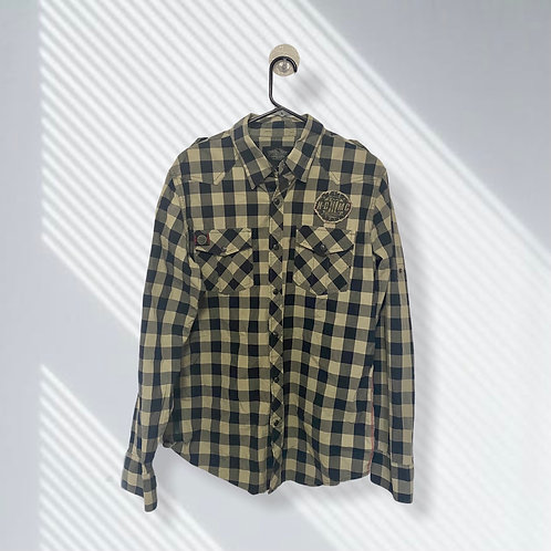 HARLEY-DAVIDSON PLAID FLANNEL BUTTON-UP RIDING SHIRT (L)