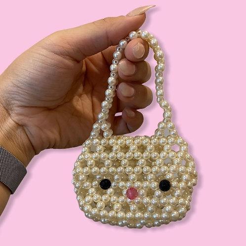 Handmade Faux Pearl Hello Kitty Mini Purse