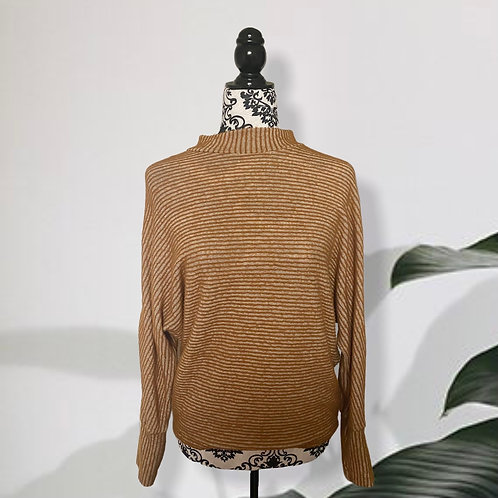 URBAN OUTFITTERS | OUT FROM UNDER COWL NECK MUSTARD SWEATER (SMALL)
