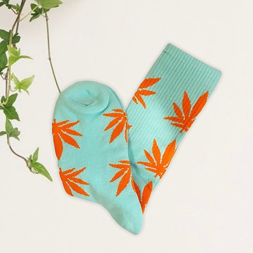 HUF DUPE Turquoise & Orange 420 Weed Socks