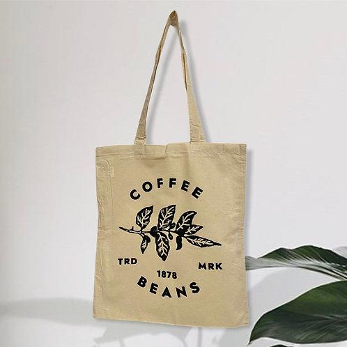 COFFEE BEANS CUSTOM PRINTED TOTE BAG