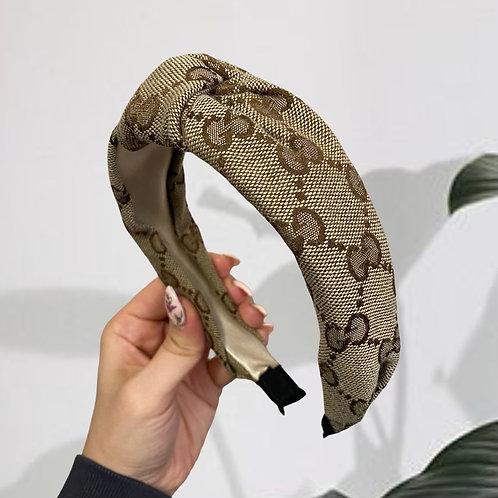 Reworked Gucci Fabric Handmade Headband