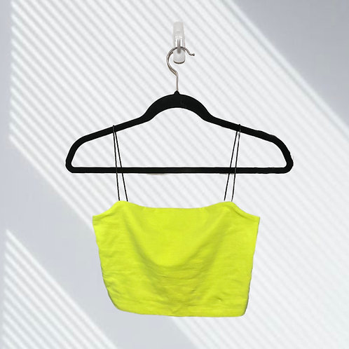 KENDALL & KYLIE NEON CROP TANK TOP (SIZE S)