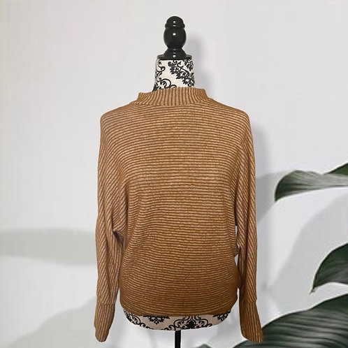 URBAN OUTFITTERS OUT FROM UNDER COWL NECK MUSTARD SWEATER (S)