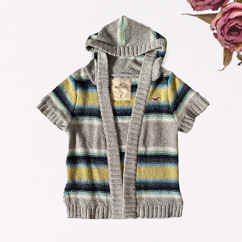 HOLLISTER Knit Short-Sleeve Cardigan Hoodie (Size M)