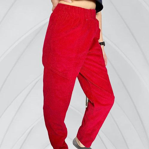 VINTAGE '90S RED CORDUROY PANTS (M)