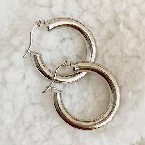 THE AISA ♡ Chunky Silver Mini Hoops