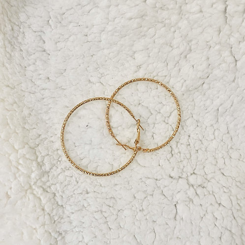 THE UDESSA ♡ Gold Intricate Engraved Hoop Earrings