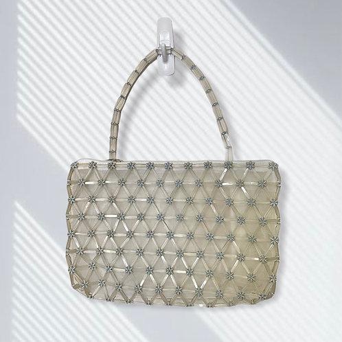 Handmade Vintage Geometric Beaded Shoulder Bag