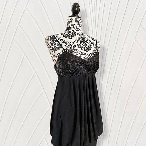 VINTAGE 1920'S FLAPPERS SEQUIN LITTLE BLACK DRESS (S-M)