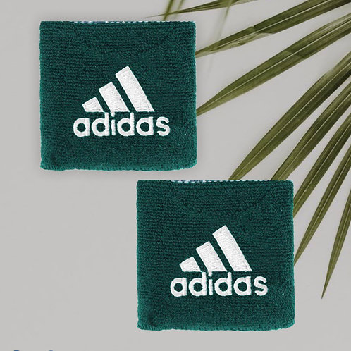 ADIDAS VINTAGE FOREST GREEN SWEATBANDS (2 PACK)