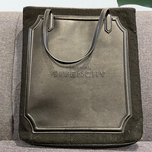 GIVENCHY Leather Authentic Parfums Tote Bag