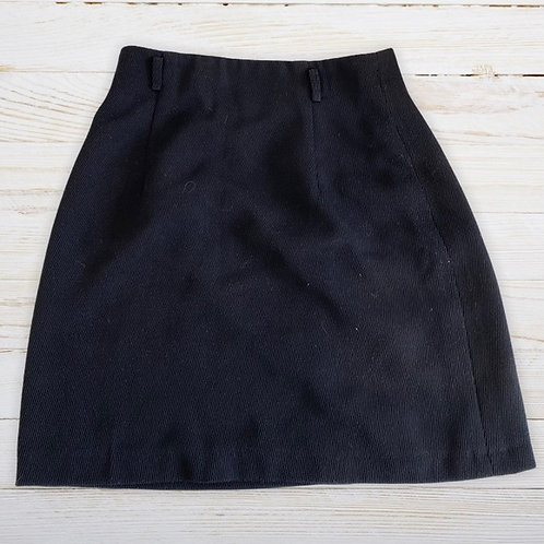 "Corduroy Boutique Black Circle Skirt (26"")"