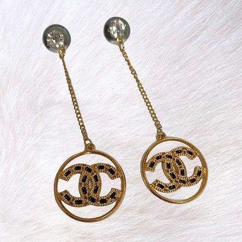 Reworked Chanel Zipper Pull Charm Dangle Earrings