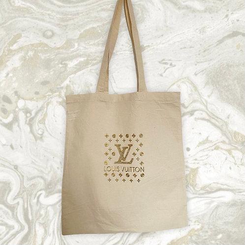 LV MONOGRAM Designer 3D Enblem Logo Tote Bag