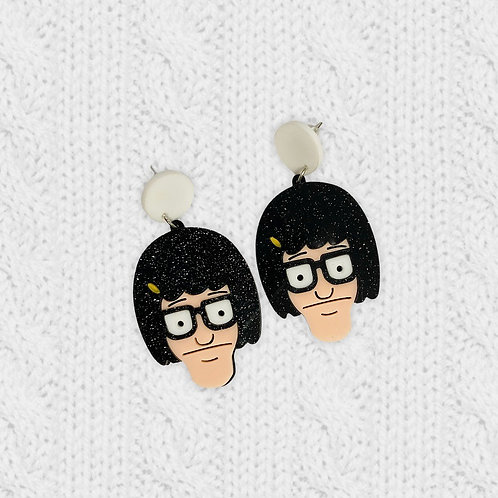 Bob's Burgers Tina Belcher Acrylic Dangle Earrings