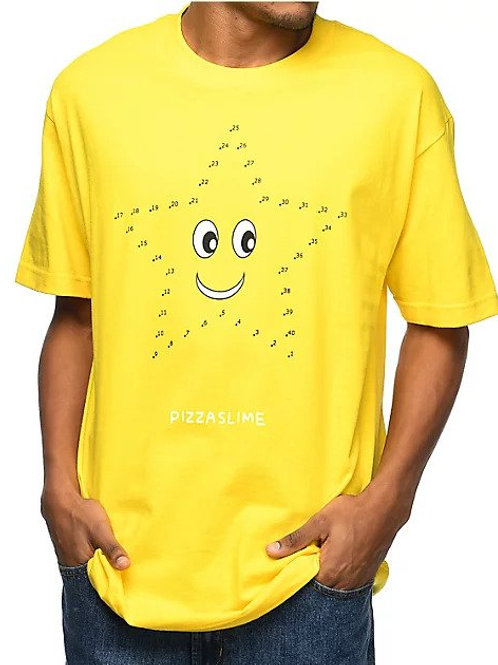 PIZZASLIME STREETWEAR CONNECT THE DOTS STAR T-SHIRT (UNISEX SIZE L)