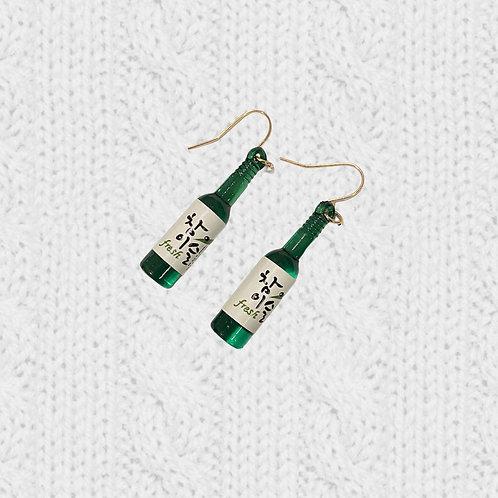 Handmade SOJU Bottle Hook Earrings