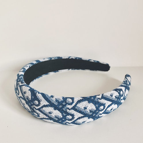 CHRISTIAN DIOR AUTHENTIC REWORKED VINTAGE FABRIC THIN HEADBAND