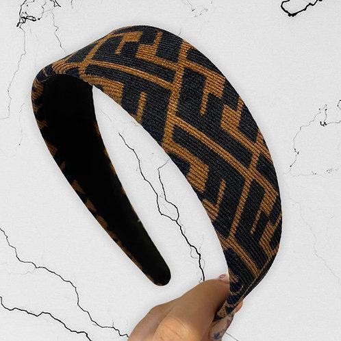 Authentic FENDI Reworked Suede Headband