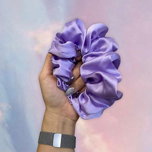 HANDSEWN | XL Indigo Mulberry Silk Scrunchie