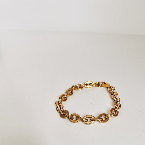 GOLD PLATED TITANIUM CHAIN LINK BRACELET