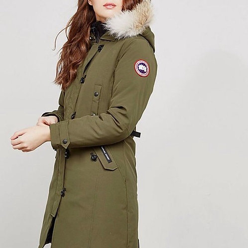 CANADA GOOSE ARMY GREEN LONG PARKA WINTER JACKET (SIZE S)