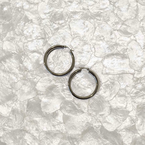 THE AISA 2.0 ♡ Chunky Silver Hoop Earrings