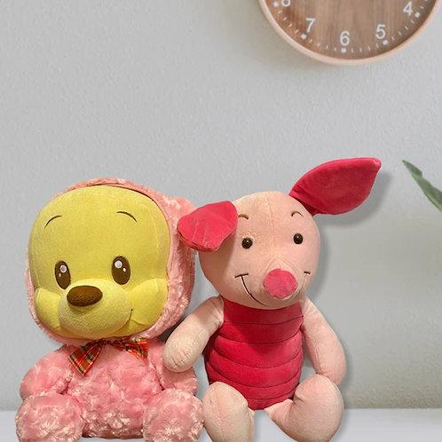 WINNIE THE POOH & PIGLET Big Stuffed Plushies