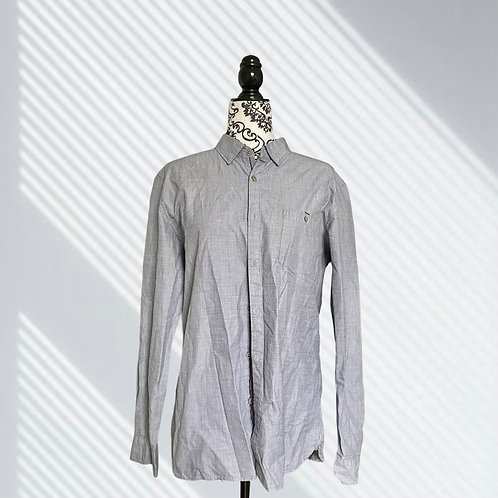 TED BAKER GREY MIDNITO BUTTON UP DRESS SHIRT (SIZE S)