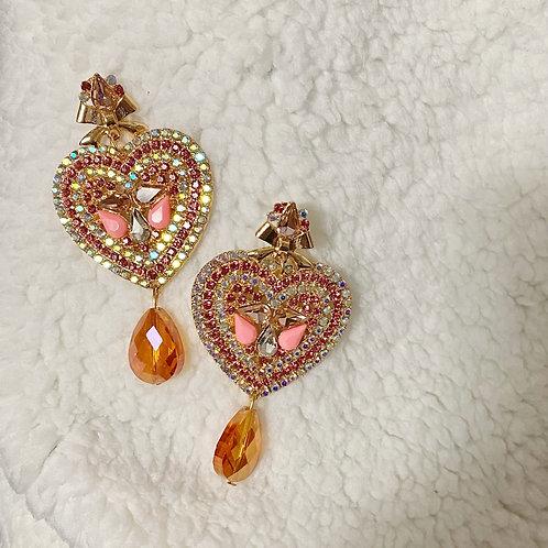 Handmade Sailor Moon Bling Crystal Drop Earrings