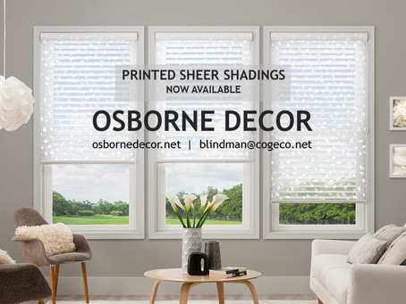 Printed Sheer Shades - now available!